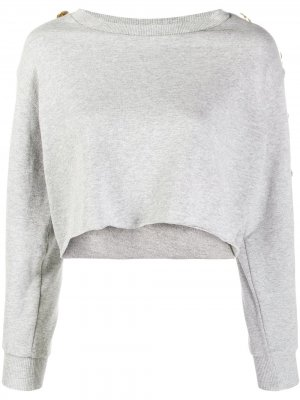 Укороченный пуловер Alexandre Vauthier. Цвет: steel