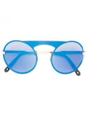 Солнцезащитные очки Bubble Philipp Plein. Цвет: синий