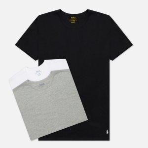 Комплект мужских футболок Crew Neck 3-Pack Polo Ralph Lauren. Цвет: комбинированный