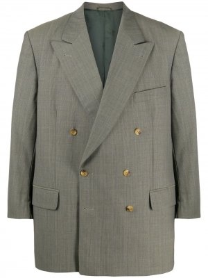 Двубортный пиджак 1990-х годов Burberry Pre-Owned. Цвет: зеленый