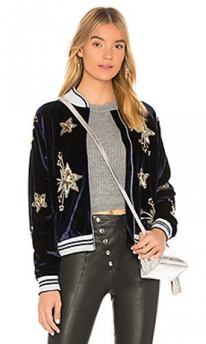 Куртка бомбер starry Lovers + Friends. Цвет: синий