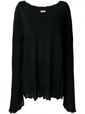 Трикотажная блузка ампирного силуэта 1990-х годов Alaïa Pre-Owned. Цвет: черный