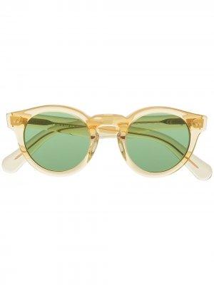 Солнцезащитные очки в круглой оправе Polo Ralph Lauren. Цвет: желтый