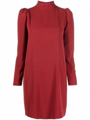 High-neck shift dress 8pm. Цвет: красный