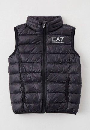 Жилет утепленный EA7. Цвет: черный