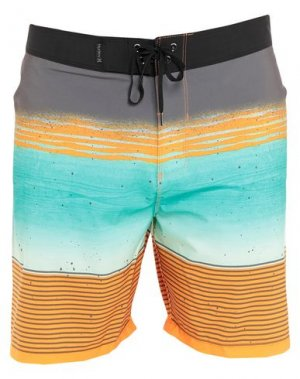 Пляжные брюки и шорты HURLEY. Цвет: бирюзовый