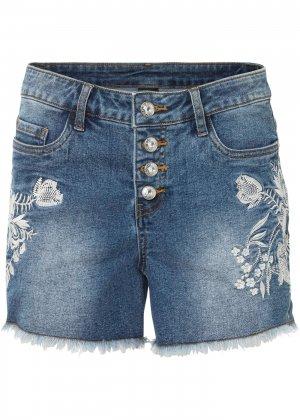 Шорты джинсовые bonprix. Цвет: синий