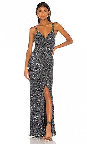 Вечернее платье luna Parker Black. Цвет: синий