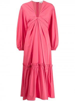 Платье Irena с V-образным вырезом A.L.C.. Цвет: розовый