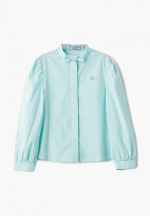 Блуза Смена. Цвет: бирюзовый