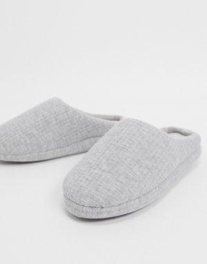 Серые меланжевые слиперы -Серый ASOS DESIGN