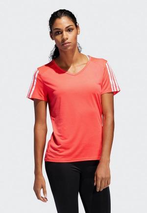 Футболка спортивная adidas RUN 3S TEE W. Цвет: красный