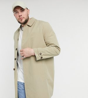 Светло-коричневый макинтош Big & Tall Burton Menswear