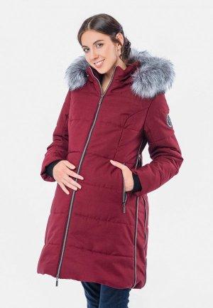 Куртка утепленная Талви. Цвет: бордовый