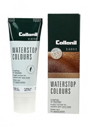 Крем для обуви Collonil Waterstop Colours, бесцветный, гладкой кожи, 75 мл.. Цвет: прозрачный