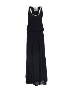 Длинное платье 8PM. Цвет: черный