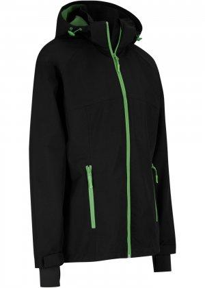 Куртка спортивная bonprix. Цвет: черный