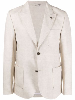 Однобортный пиджак Grey Daniele Alessandrini. Цвет: нейтральные цвета