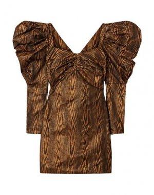 Короткое платье HOUSE OF HOLLAND. Цвет: коричневый