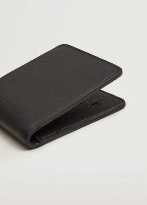 Бумажник из искусственной кожи - Wallet Mango. Цвет: темно-синий