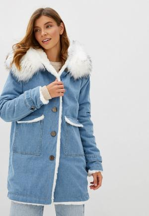 Куртка джинсовая Elsi. Цвет: голубой
