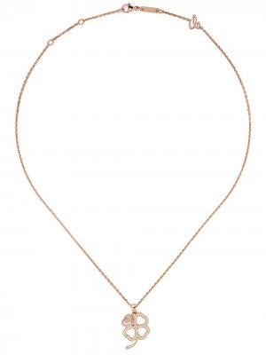 Колье Good Luck Charms из розового золота с бриллиантами Chopard. Цвет: розовый