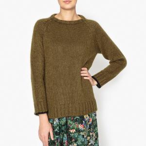 Пуловер OPHELIE MOMONI. Цвет: хаки