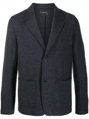 Однобортный пиджак Transit. Цвет: серый