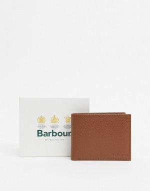 Светло-коричневый кожаный бумажник Barbour