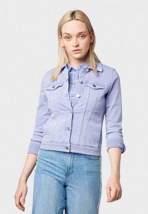 Куртка джинсовая Tom Tailor Denim. Цвет: фиолетовый