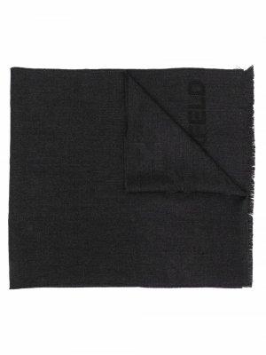Шарф с логотипом Karl Lagerfeld. Цвет: серый