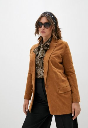 Куртка кожаная Pablo. Цвет: коричневый