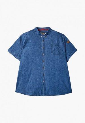 Рубашка джинсовая D555. Цвет: синий