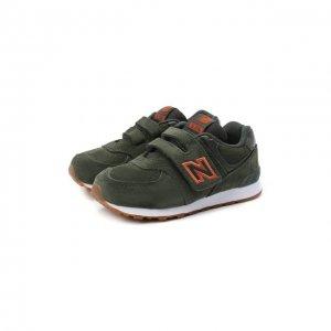 Кроссовки 574 New Balance. Цвет: зелёный