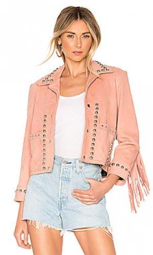 Куртка lil darlin Understated Leather. Цвет: розовый