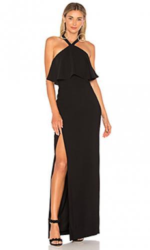 Макси платье piazza Amanda Uprichard. Цвет: черный