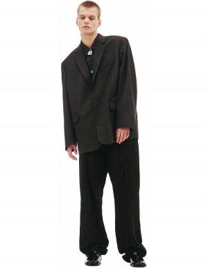 Серый однобортный пиджак Balenciaga