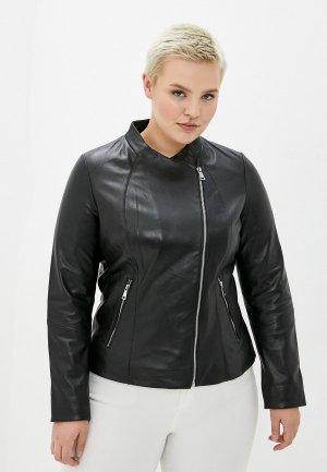 Куртка кожаная Le Monique IPACBL02LS20/2. Цвет: черный