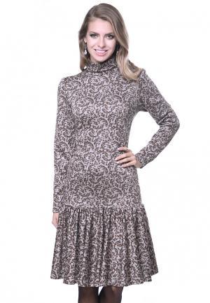 Платье Olivegrey MARKIZA. Цвет: бежевый