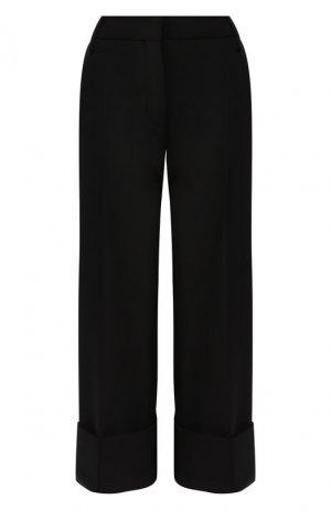Шерстяные брюки Valentino. Цвет: черный