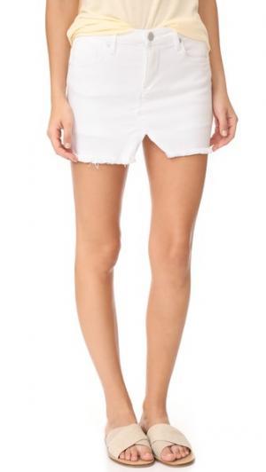 Обрезанная юбка-шорты Blank Denim. Цвет: белый