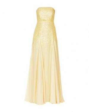 Длинное платье HALSTON. Цвет: желтый