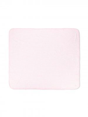 Одеяло в клетку гингем с логотипом Ralph Lauren Kids. Цвет: розовый