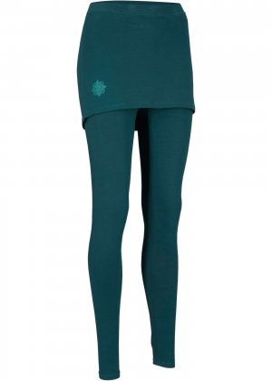 Легинсы спортивные с юбкой, Level 2 bonprix. Цвет: сине-зеленый