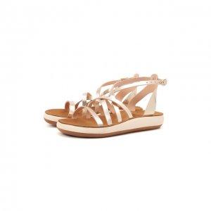 Кожаные сандалии Della Ancient Greek Sandals. Цвет: золотой