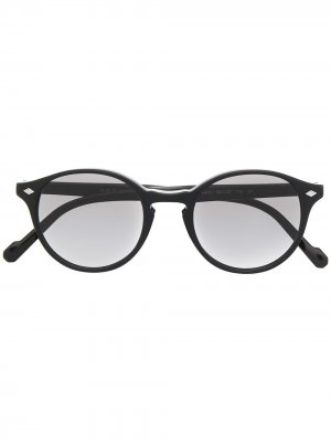 Солнцезащитные очки в круглой оправе Vogue Eyewear. Цвет: черный