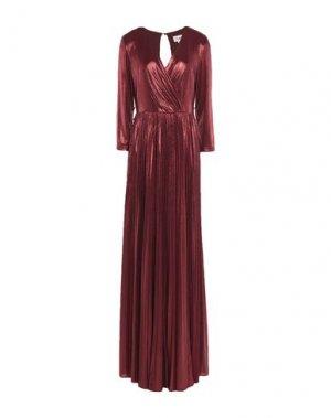 Длинное платье ALLURE. Цвет: кирпично-красный