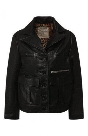 Кожаная куртка Zadig&Voltaire. Цвет: чёрный