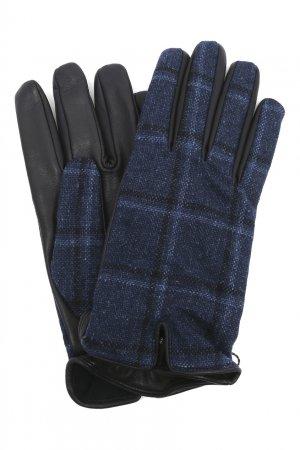 Кожаные перчатки с декором Etro. Цвет: синий
