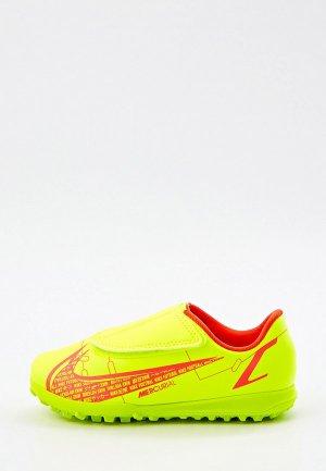 Шиповки Nike JR VAPOR 14 CLUB TF PS (V). Цвет: желтый